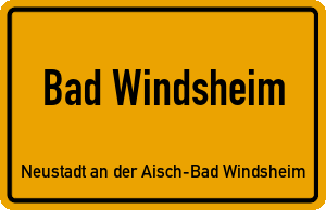 Ortschild Bad Windsheim